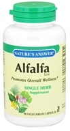 Nature's Answer - Alfalfa Leaf Single Herb Supplement - 90 Vegetarian Capsules (083000161100)