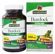 Nature's Answer - Burdock Root Single Herb Supplement - 90 Vegetarian Capsules, from category: Herbs