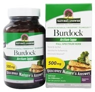 Nature's Answer - Burdock Root Single Herb Supplement - 90 Vegetarian Capsules - $4.89