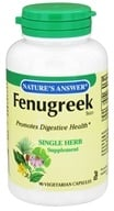 Nature's Answer - Fenugreek Seed Single Herb Supplement - 90 Vegetarian Capsules