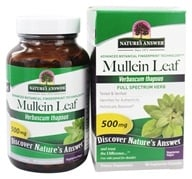 Nature's Answer - Mullein Leaf Single Herb Supplement - 90 Vegetarian Capsules - $4.99