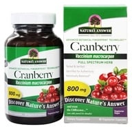 Nature's Answer - Cranberry Fruit Single Herb Supplement - 90 Vegetarian Capsules - $5.19