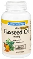 Nature's Answer - Organic Flaxseed Oil 1000 mg. - 90 Softgels by Nature's Answer