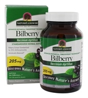 Image of Nature's Answer - Bilberry Extract 25% Anthocyanosides - 90 Vegetarian Capsules