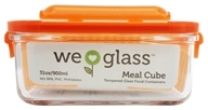 Image of Wean Green - Glass Meal Cube Carrot - 31 oz.
