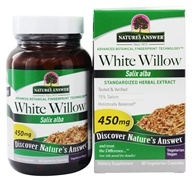 Nature's Answer - White Willow Bark - 60 Vegetarian Capsules - $9.59