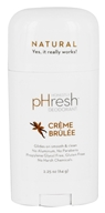 pHresh - 100% Natural Deodorant Stick Creme Brulee - 1.7 oz. by pHresh