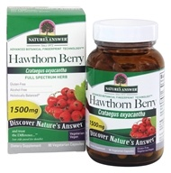 Nature's Answer - Hawthorn Berry Single Herb Supplement - 90 Vegetarian Capsules - $4.39