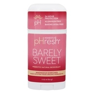 pHresh - 100% Natural Deodorant Stick Barely Sweet - 1.7 oz. by pHresh