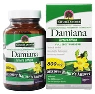Nature's Answer - Damiana Leaf Single Herb Supplement - 90 Vegetarian Capsules (083000161629)