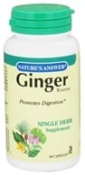 Image of Nature's Answer - Ginger Rhizome Single Herb Supplement - 90 Capsules