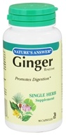 Nature's Answer - Ginger Rhizome Single Herb Supplement - 90 Capsules