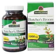 Nature's Answer - Butcher's Broom Root Single Herb Supplement - 90 Vegetarian Capsules, from category: Herbs