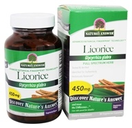 Nature's Answer - Licorice Root Single Herb Supplement - 90 Vegetarian Capsules