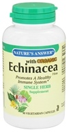 Nature's Answer - Organic Echinacea Single Herb Supplement - 90 Vegetarian Capsules