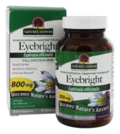 Nature's Answer - Eyebright Single Herb Supplement - 90 Vegetarian Capsules - $5.24