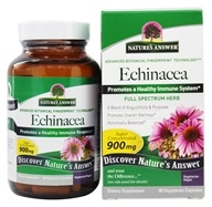 Image of Nature's Answer - Echinacea Root Organic Single Herb Supplement - 90 Vegetarian Capsules