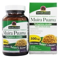 Nature's Answer - Muira Puama Bark Once Daily Single Herb Supplement - 90 Vegetarian Capsules (083000163029)