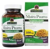 Image of Nature's Answer - Muira Puama Bark Once Daily Single Herb Supplement - 90 Vegetarian Capsules
