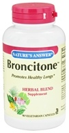 Nature's Answer - Broncitone Herbal Blend Supplement - 90 Vegetarian Capsules (083000160295)