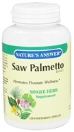 Image of Nature's Answer - Saw Palmetto Extract Single Herb Supplement - 120 Vegetarian Capsules