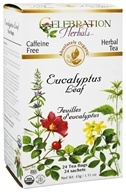 Celebration Herbals - Organic Caffeine Free Eucalyptus Leaf Herbal Tea - 24 Tea Bags
