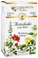 Celebration Herbals - Organic Artichoke Leaf Blend Herbal Tea - 24 Tea Bags (628240251022)