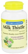 Nature's Answer - Milk Thistle 80% Silymarin Seed Extract - 60 Vegetarian Capsules