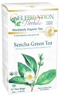 Celebration Herbals - Organic Sencha Green Tea - 24 Tea Bags, from category: Teas