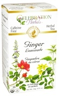 Celebration Herbals - Organic Ginger Lemonade Herbal Tea - 24 Tea Bags, from category: Teas