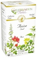 Celebration Herbals - Organic Caffeine Free Anise Seed Herbal Tea - 24 Tea Bags (628240201034)