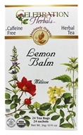 Image of Celebration Herbals - Organic Caffeine Free Lemon Balm Herbal Tea - 24 Tea Bags