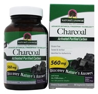 Nature's Answer - Activated Charcoal Natural Origin - 90 Vegetarian Capsules (083000164675)