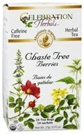 Image of Celebration Herbals - Organic Caffeine Free Chaste Tree Berries Herbal Tea - 24 Tea Bags