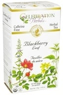 Celebration Herbals - Organic Caffeine Free Blackberry Leaf Herbal Tea - 24 Tea Bags (628240251060)