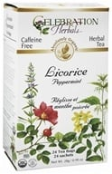 Celebration Herbals - Organic Caffeine Free Licorice Peppermint - 24 Tea Bags by Celebration Herbals