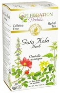 Celebration Herbals - Organic Caffeine Free Gotu Kola Herb Herbal Tea - 24 Tea Bags (628240201454)