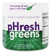 Phresh Products - Phresh Greens 100% Raw Organic Alkalizing Powdered Superfood - 5 oz. by Phresh Products