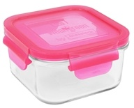 Wean Green - Glass Lunch Cube Raspberry - 16 oz. (063236490021)