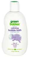 Image of Green Babies - Calming Tearless Bubble Bath Sweet Baby Scent - 12 oz.