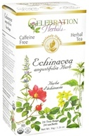 Celebration Herbals - Organic Caffeine Free Echinacea Angustifolia Herb Herbal Tea - 24 Tea Bags by Celebration Herbals
