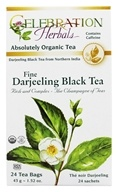 Celebration Herbals - Organic Fine Darjeeling Black Tea - 24 Tea Bags by Celebration Herbals