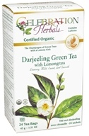 Celebration Herbals - Organic Darjeeling Green Tea with Lemongrass - 24 Tea Bags by Celebration Herbals