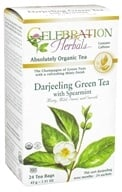 Celebration Herbals - Organic Darjeeling Green Tea with Spearmint - 24 Tea Bags, from category: Teas