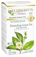 Celebration Herbals - Organic Darjeeling Green Tea with Spearmint - 24 Tea Bags (628240204288)