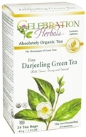 Celebration Herbals - Organic Darjeeling Green Tea - 24 Tea Bags