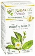 Celebration Herbals - Organic Darjeeling Green Tea - 24 Tea Bags (628240204264)