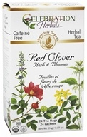 Celebration Herbals - Organic Caffeine Free Red Clover Herb & Blossom Herbal Tea - 24 Tea Bags (628240201737)