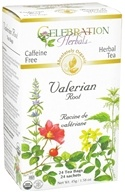 Celebration Herbals - Organic Caffeine Free Valerian Root Herbal Tea - 24 Tea Bags (628240201881)