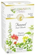 Celebration Herbals - Organic Caffeine Free Fennel Seed Blonde Herbal Tea - 24 Tea Bags (628240201447)